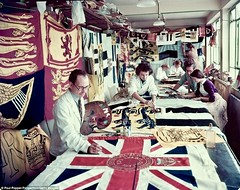 Coronation of Queen Elizabeth 1953 (Peer Into The Past) Tags: eddingtonsfactory sidcup london peerintothepast british greatbritain flag 1953 vintage historyincolor colorphotography history queenelizabeth coronation