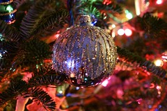Blue and Silver (Read2me) Tags: she cye tcfe christmas ornament decoration tree artificiallight silver glitter blue pregamewinner ge
