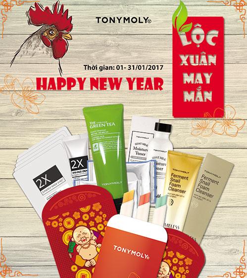 Chương trình Promotion tháng 1.2017 của TONYMOLY
