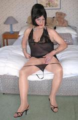 Amyblaneg-002 (fionaxxcd) Tags: crossdresser crossdressing xdressing m2f mtf transvestite trannie tranny breasts bust tatoo pinknails stilettos blackteddy highheels thong redlipstick bangles sandals