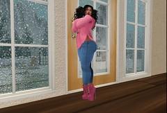 Watching it Snow (Munky the Brat) Tags: lfwsl vinyl analogdog ad
