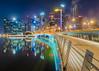 Starlight Express (Bernard Yeo) Tags: citylights cityscapes jubileebridge lensflare marina movingclouds shentonway singapore skyline starburst