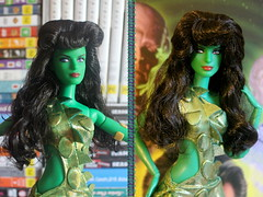 Vina Before and After (DeanReen) Tags: 2016 san diego comic con exclusive star trek 50th anniversary vina orion slave girl barbie doll desilu television hair before after original series 1964 64 1965 65 mattel susan oliver the cage sdcc indoor people gold label