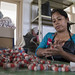 Woman Produces Handicrafts