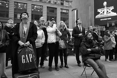 Moments Before Trump Is Sworn In (JohnKCrossman) Tags: despair inauguration shock timessquare trump