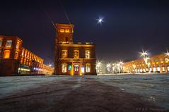 Winter in Lodz (fbkphotography) Tags: 6sec 12mm 2017 afterdark city citylights f8 frenchpotato iso100 lodsch lodz markt moon nex6 night poland polen sony walimex winter manufaktura ice