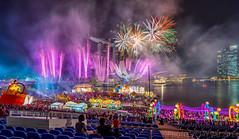 Chinese new year firework (jaywu429) Tags: sony sky singapore skyline sonya7r sonycamera sony1635mmf4 singaporeriver firework lights colourful cityscape landscape longexposure smokes marinabay marinabaysands marinabaysandshotel nightscape