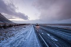 On the one (Daniel Caridade) Tags: sky clouds car road snow ice one route estrada céu carro neve gelo þjóðvegur iceland núvens hringvegur islândia