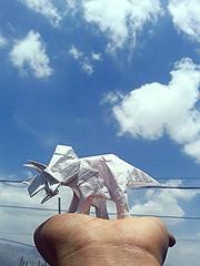 triceratops - fumiaki kawahata (javier vivanco origami) Tags: triceratops fumiaki kawahata javier vivanco origami ica peru