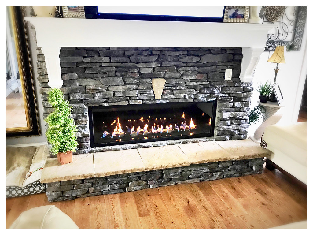 Town and Country TC54WS Linear Direct Vent Fireplace. Dalton, Ga.