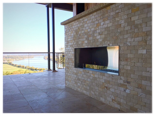 Napoleon GSS-48 outdoor linear fireplace. Chattanooga TN.
