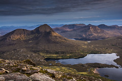 Cul Beag and the mountains of Assynt (bradders29) Tags: sunset mountains scotland highlands assynt culmor culbeag benmorecoigach d7100 sgorrtuath