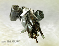 DBG Gunship Bulletrunner (Horcik Designs) Tags: brick binocular lego space gray system part future scifi fi sci assembly gunship bluish darb bricked studless