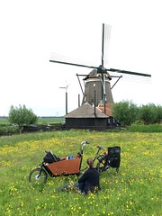 Marcus Schodorf Ams-Lon-6 (@WorkCycles) Tags: family england baby holland windmill amsterdam bike bicycle tour touring fiets windmolen cargobike maxicosi bakfiets toertocht workcycles kr8