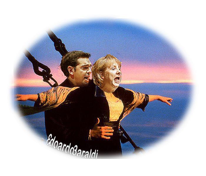 Αποτέλεσμα εικόνας για tsipras merkel titanic