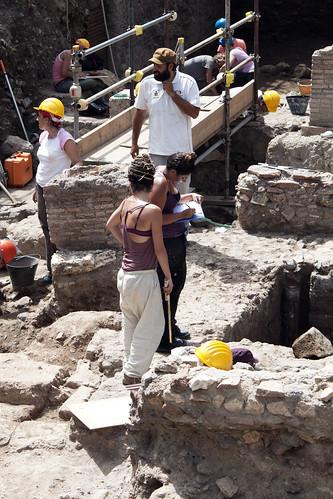 Rome - Archeological dig below Palatine Hill