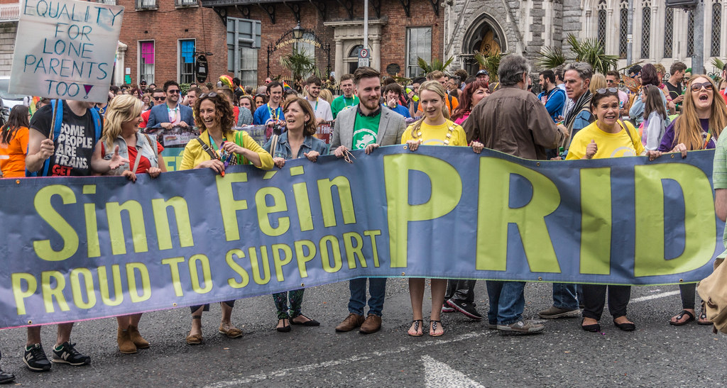 PRIDE PARADE 2015 - JERRY ADAMS AND MARY-LOU McDONALAD WERE THERE [WERE YOU THERE?]-REF-106310