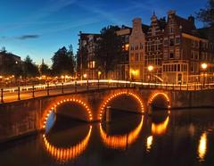 Amsterdam nights (jefflancaster) Tags: bridge keizersgracht leidsegracht amsterdamcanal