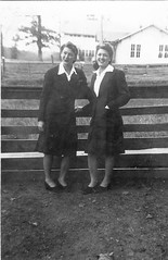 Birdie and Lenora (rfulton) Tags: blackandwhite sisters vintage women louisiana siblings forties