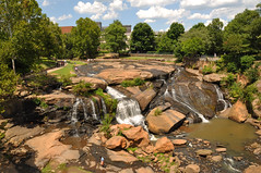 Falls Park, Greenville SC (James Willamor) Tags: park city urban sc nature water creek river waterfall stream downtown south central center falls rapids carolina greenville reedy