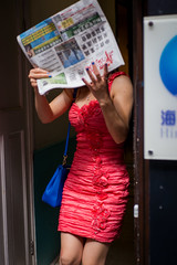 Red or Dead (DonStevie) Tags: china street leica red colour london contrast paper 50mm chinatown candid chinese streetphotography streetportrait stranger m summicron shock colourful hiding reddress redordead chinesegirl streetshooting 50mmsummicron 50mmf2summicron streetphotog streetphotographylondon leicam240