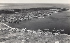 c. 1960 Postcard - Aerial View of the Village of Westport (Digby County) on Brier Island, Nova Scotia (Treasures from the Past) Tags: postcard westport brierisland novascotia digbyisland