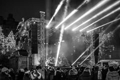 Stettin, Christmas street concert, December 2016. (TomasLudwik) Tags: swiatelko z enea christmas street concert music ulica plac lotnikow szczecin stettin bw blackandwhite xt10 fujifilm