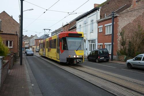 tram 7445 à Anderlues (Rue Paul Janson), 24/12/2016