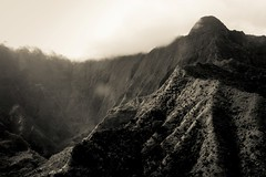 Kauai 2016 (chiarina606) Tags: kauai hawaii island islandlife blackandwhite chiarinaloggia napali napalicoast coast helicopter helicopterride cliffs spectacular seascape mountwaialeale waialeale wettestspotonearth
