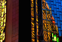 Straight Black Heart (Book'em) Tags: architecture abstract architectural geometry lines geometric color colour toronto ontario reflections city d800 nikon