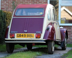 G849 BBL (Nivek.Old.Gold) Tags: 1990 citroen 2cv6 special dolly 602cc ormsbycars reading
