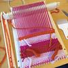Weaving WIP (hine) Tags: weaving wovenwallhanging yarn thread newtoy newhobby pink craft handmade