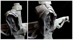 ORIGAMI - JESUS ! ( Crucifixion) - Face (Neelesh K) Tags: origami jesus god christianity crucifixion bible box pleating 48 grids folding complex tracing paper neelesh k christ
