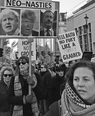 neo-nasties (JudyGr) Tags: march demonstration protest 2017 womensmarch solidarity trump humanrights womensrights placards bw blackandwhite womensmarchonlondon