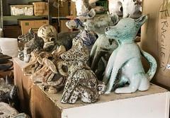 IMG_3494 (francois f swanepoel) Tags: ceramics dog dogs hond honda honde keramiek lastworx nicolenecswanepoel nikkidogs nikkipix studio ceramicist cowheads koeikoppe