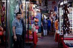 Vendor at the night market in China town, KL [In explore] (jujemisa) Tags: kuala lumpur market china town malaysia vendor shop travel petaling street nikon d5200 explore