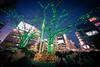 Meeting Place (hidesax) Tags: meetingplace night tree illuminations man people shibuya tokyo japan hidesax sony a7ii voigtlander 10mm f56