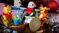 Christmas Agents & my purse contents (dksesh) Tags: sesh seshadri seshfamily dhanakoti haritasya harita sony xperia z2 dhurmukhi samvatsara christmas tree festive season toys tigger pooh gifts sterling danske bank ulster pound coins december 2016 hounslow england