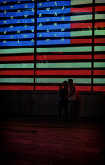 Stars and Stripes (JCatterson) Tags: nyc new york manhattan time squares stars stripes flag street night light candid people