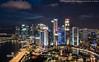 Singapore CBD Twilight (20161231-DSC00188) (Michael.Lee.Pics.NYC) Tags: singapore marinabay cbd centralbusinessdistrict cityscape architecture night twilight longexposure aerial singaporeriver merlion fullerton sony a6300 zeissloxia21mmf28