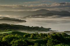 Mist Over Loch Sunart (Peter Quinn1) Tags: ardnamurchan lochsunart sunart highlands scotland glenmore glenbeg mist dawn morning sunrise fields loch