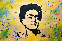STENCIL - FRIDA KAHLO  (SPRAY SOBRE PAPEL PARDO - 2014) (Arte Colado) Tags: stencil estencil arte urbana