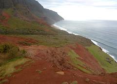 Kalalau Trail, Na Pali Coast, Kauai, Hawaii (lihue1946) Tags: kalalautrail trail kalalau redhill red hill valley kauai hawaii