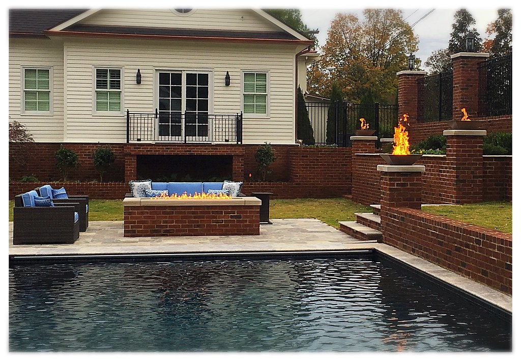Custom Copper Fire Pits and Custom Linear Firepit.