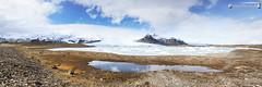 Fjallsjkull & Fjallsrln (dieLeuchtturms) Tags: winter panorama island iceland europa europe glacier gletscher glacierlagoon vatnajkull austurland gletschersee hornafjrur 3x1 rfajkull hvannadalshnkur fjallsjkull fjallsrln breiamerkursandur