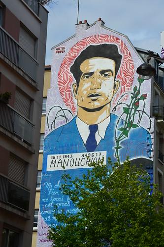 Fresque Murale, Missak Manouchian, by Artof Popof