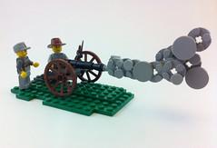 M1857 Napoleon Gun (tyfighter07) Tags: by bay war gun lego smoke bricks gettysburg civil american napoleon years 152 1863 bayonet musket 2015 americancivilwar m1857 bbtb comfederate brickbuilder7 bbtb2015