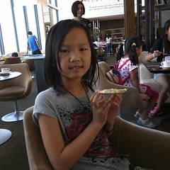 She's only 8 years old but has visited a dozen countries, and has more air miles than you. :p