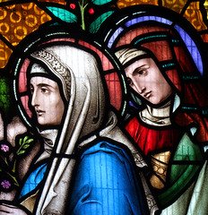 Blessed Virgin and Mary Salome at the empty tomb (Lavers, Barraud & Westlake, 1868) (Simon_K) Tags: church churches cambridgeshire eastanglia cambs hunts kimbolton huntingdonshire