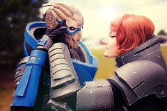 No Shepard Without Vakarian (tonicnebula) Tags: photography cosplay shepard 2015 bioware crossplay masseffect colossalcon videogamecosplay commandershepard garrus garrusvakarian